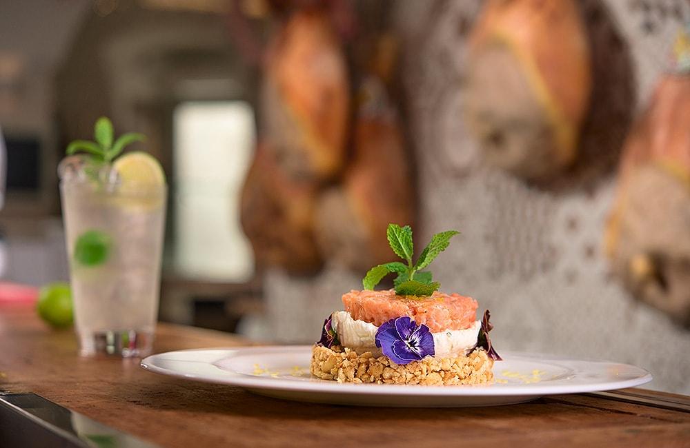 Foto food Cheescake al salmone